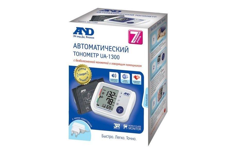 фото упаковки Тонометр автоматический UA-1300 с адптером говорящий