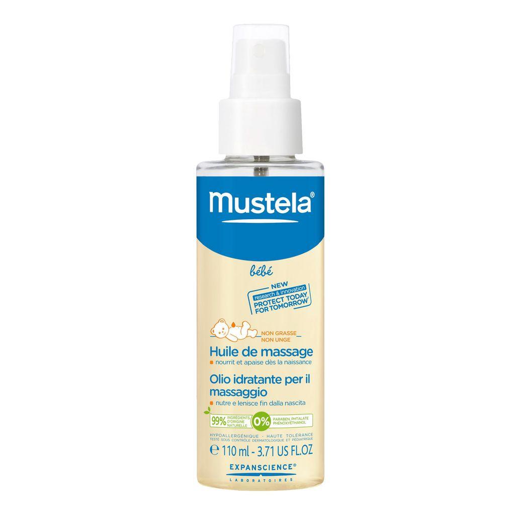 фото упаковки Mustela масло для массажа детское