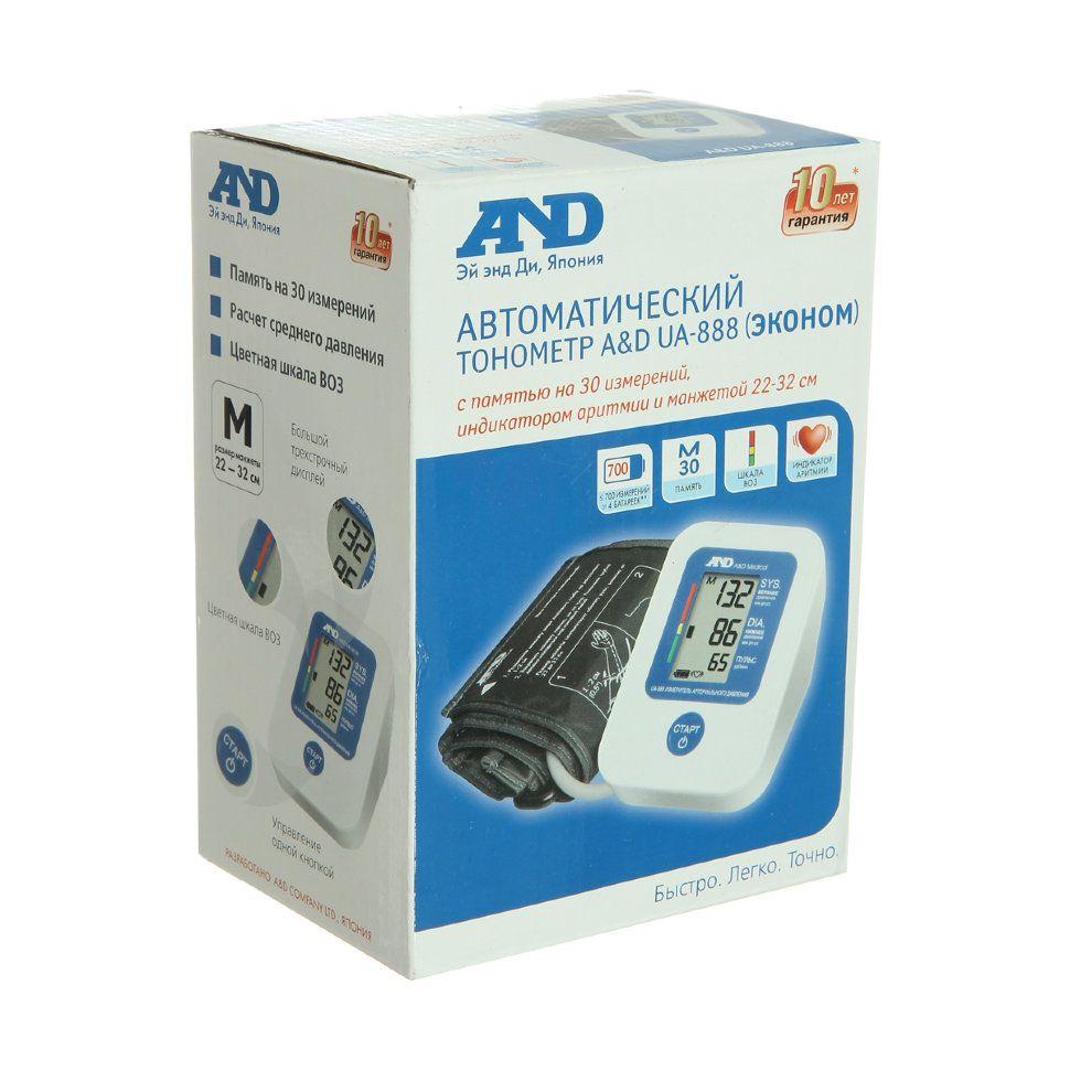 фото упаковки Тонометр автоматический AND UA-888 Эконом