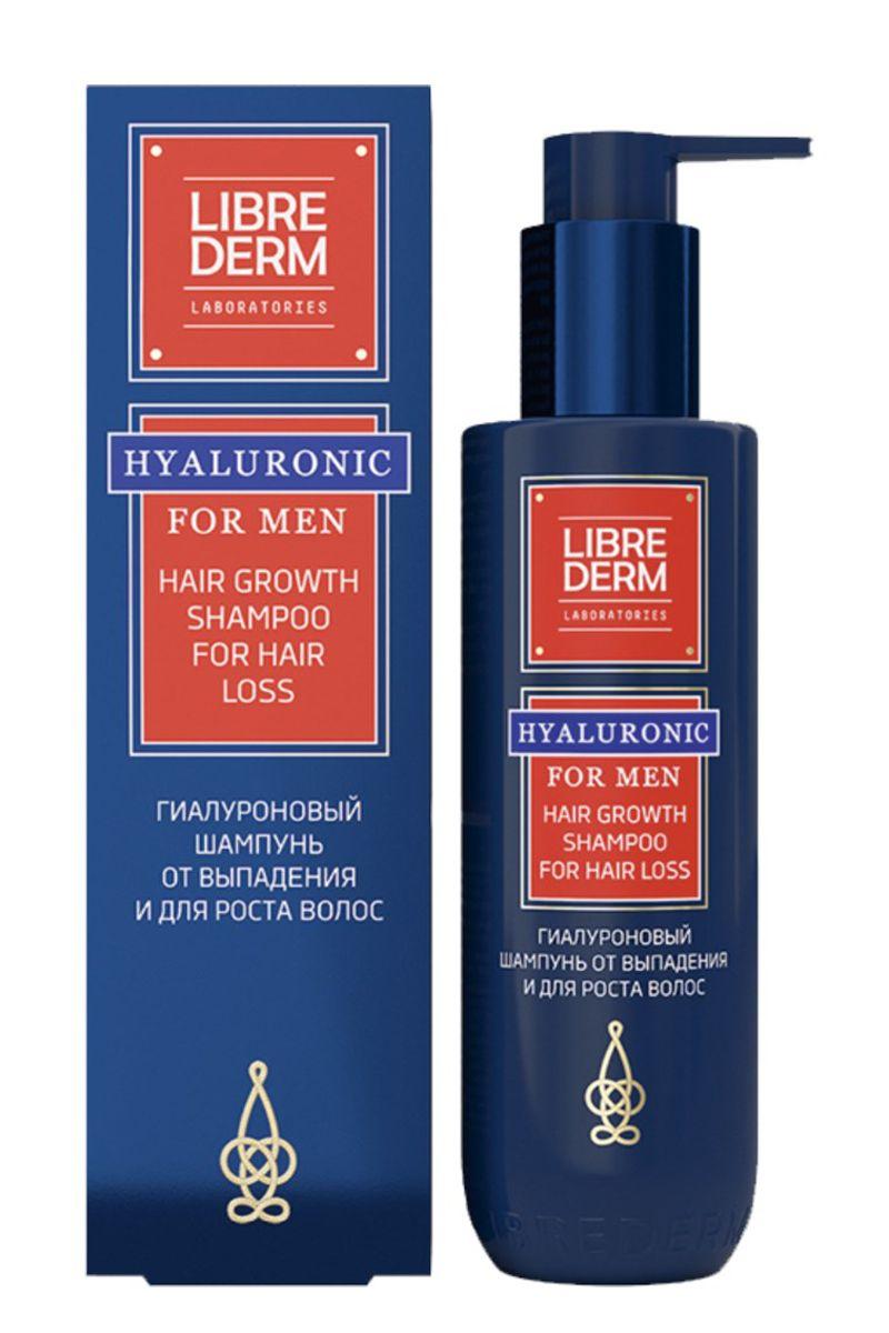 фото упаковки Librederm For men гиалуроновый шампунь от выпадения волос
