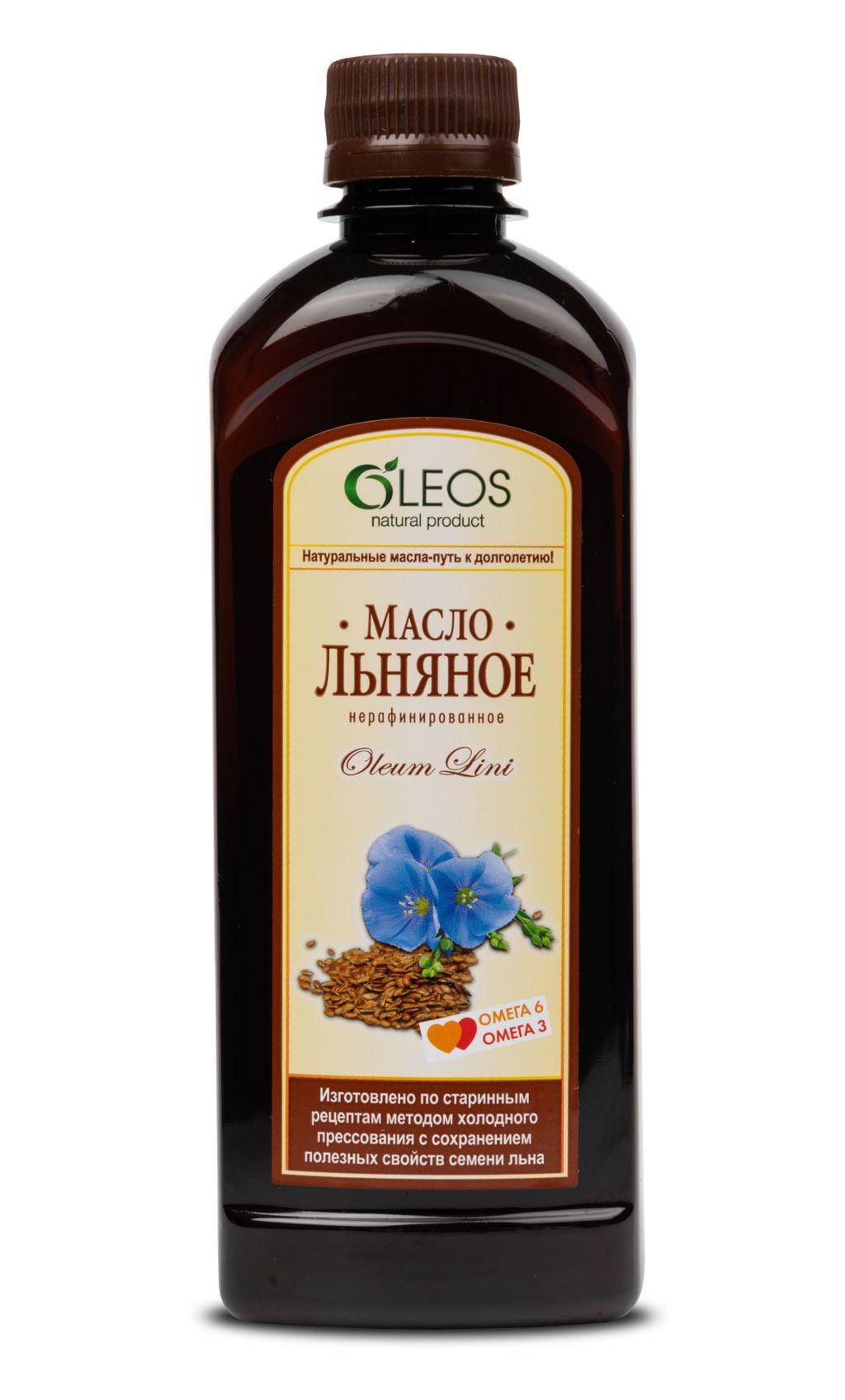 фото упаковки Oleos Льняное масло