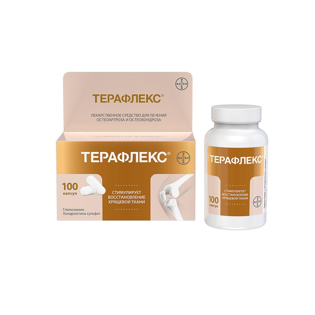 Терафлекс, 500 мг+400 мг, капсулы, 100шт.