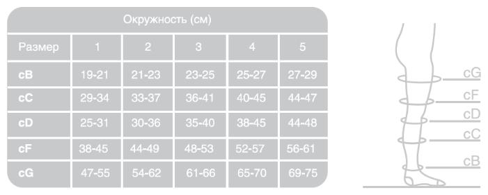Ergoforma Чулки антиэмболические 1 класс компрессии, р. 2, арт. 217 (20 mm Hg), с отверстием под пальцами, белые, пара, 1шт.