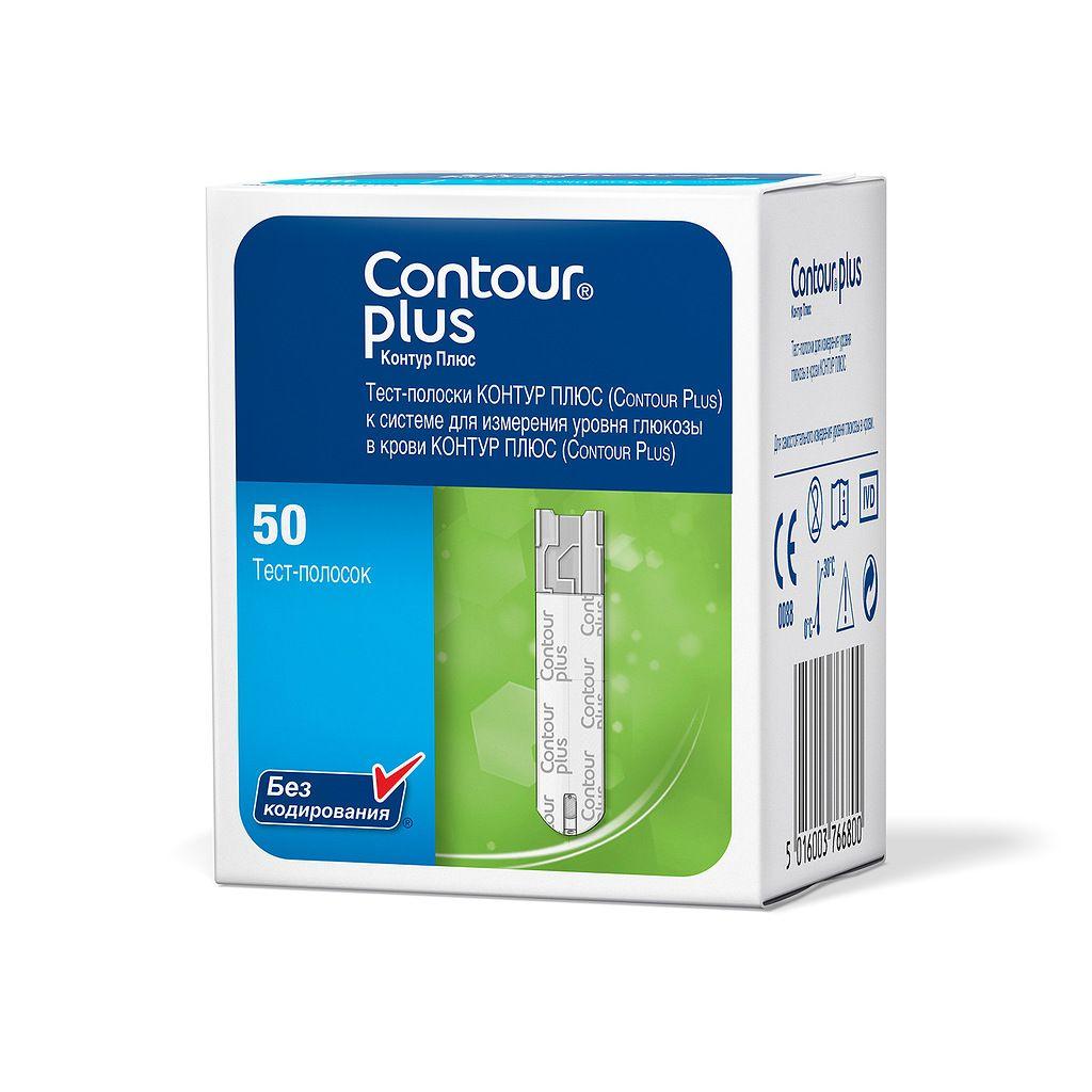 Contour Plus Тест-полоски, тест-полоска, 50шт.