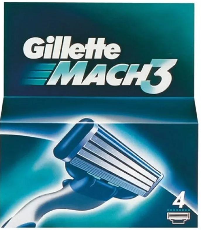 фото упаковки Gillette Mach 3 Кассеты для бритвенного станка