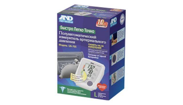 фото упаковки Тонометр полуавтоматический AND UA-705 L