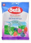 Sula карамель леденцовая без сахара, с ароматом лесных ягод, 60 г, 1шт.