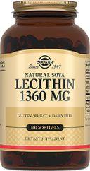 Solgar Натуральный соевый лецитин, 1360 мг, капсулы, 100шт.