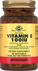 Solgar Витамин Е 100 МЕ, 100 МЕ, капсулы, 50шт.