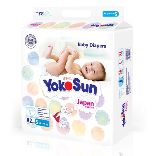 Yokosun Подгузники детские, S, 3-6кг, 82шт.