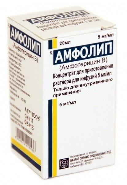 Амфолип, 5 мг/мл, концентрат для приготовления раствора для инфузий, 20 мл, 1шт.