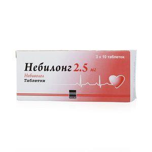 Небилонг, 2.5 мг, таблетки, 30шт.