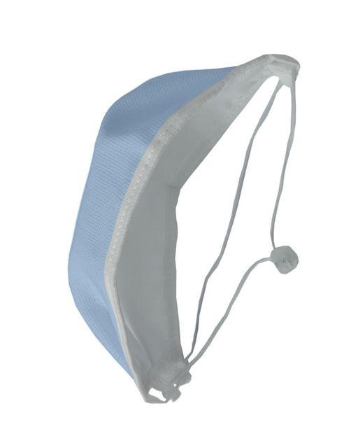 Маска медицинская многоразовая Эласма, с тесьмой-завязкой и фиксатором вокруг головы, из комбинированных материалов, голубая, арт. С-902, 1шт.