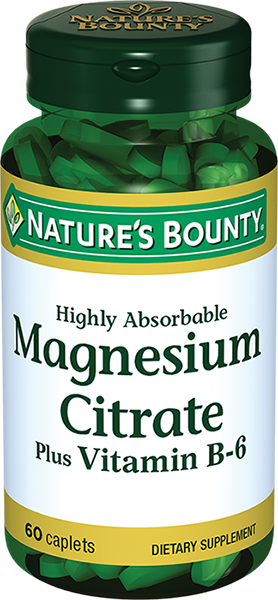 Natures Bounty Цитрат Магния с витамином В-6, таблетки, 60шт.