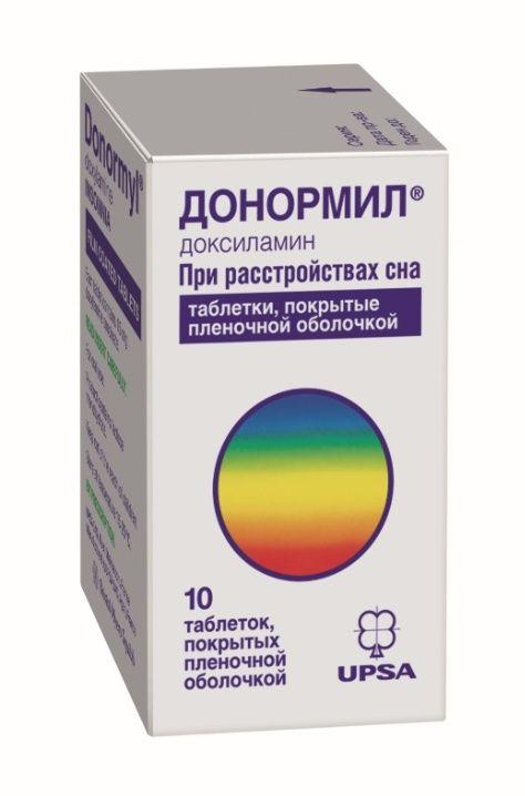 Донормил, 15 мг, таблетки, покрытые пленочной оболочкой, 10шт.