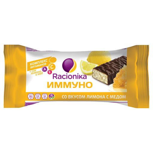 Racionika Diet батончик, со вкусом меда и лимона, 30 г, 1шт.
