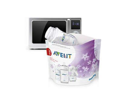Avent Пакеты для стерилизации в микроволновой печи, 0-6 месяцев, SCF297/05, 5шт.