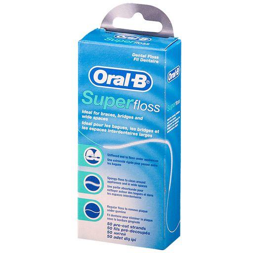 Зубная нить Oral-B Superfloss, нити зубные, 1шт.