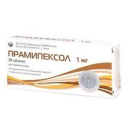 Прамипексол, 1 мг, таблетки, 30шт.