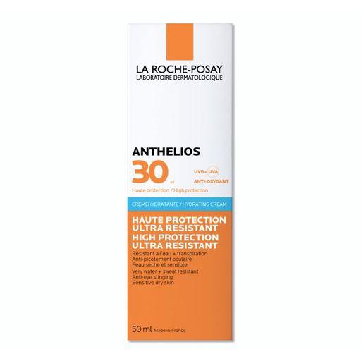 La Roche-Posay Anthelios SPF30 увлажняющий крем для лица и кожи вокруг глаз, крем для лица, для нормальной, сухой и чувствительной кожи, 50 мл, 1шт.