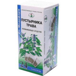 Пустырника трава, сырье растительное-порошок, 1.5 г, 24шт.