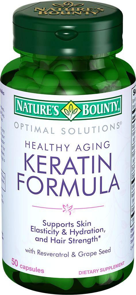 Natures Bounty Кератин формула, капсулы, 50шт.