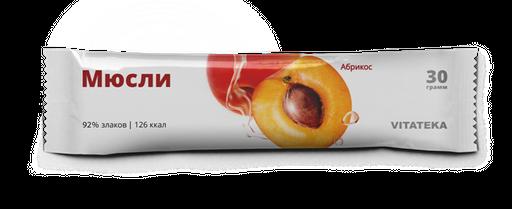 Витатека Мюсли батончик абрикосовый, 30 г, 1шт.