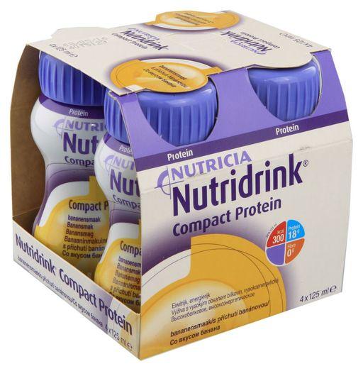 Nutridrink compact protein, жидкость для приема внутрь, со вкусом банана, 125 мл, 4шт.