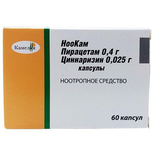 НооКам, 400 мг+25 мг, капсулы, 60шт.