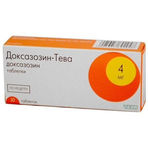 Доксазозин-Тева, 4 мг, таблетки, 30шт.