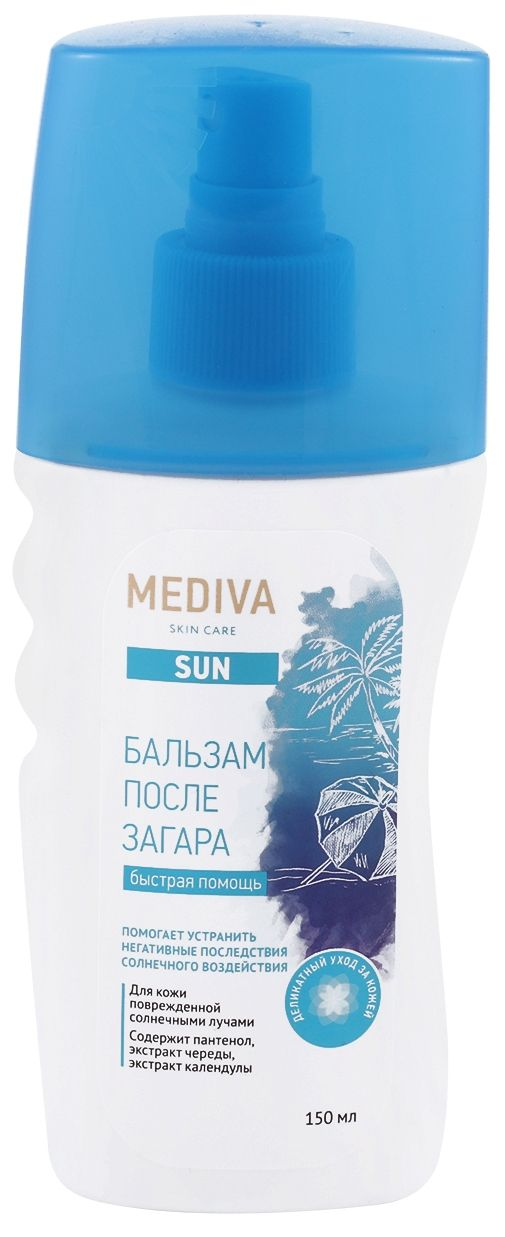 Mediva Sun Бальзам после загара, бальзам для тела, 150 мл, 1шт.