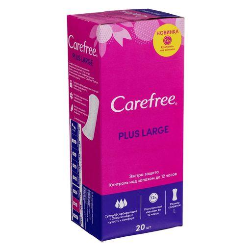 Carefree plus Large салфетки женские гигиенические ежедневные, салфетки гигиенические, 20шт.