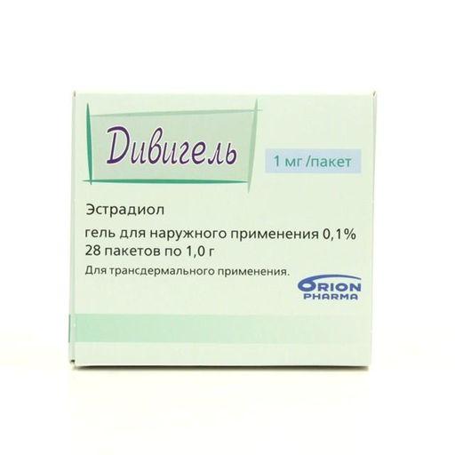Дивигель, 0.1%, гель трансдермальный, 1 г, 28шт.