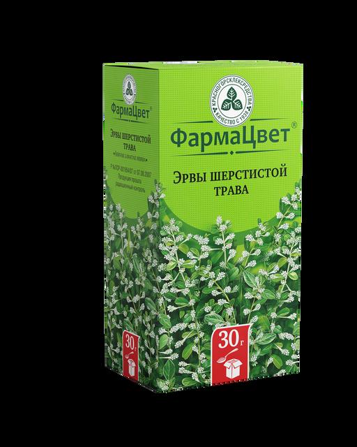 Эрвы шерстистой трава, сырье растительное измельченное, 30 г, 1шт.
