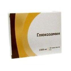 Глюкозамин, 1500 мг, порошок для приготовления раствора для приема внутрь, 4 г, 20шт.