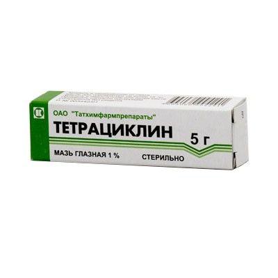 Тетрациклин (глазная мазь), 1%, мазь глазная, 5 г, 1шт.