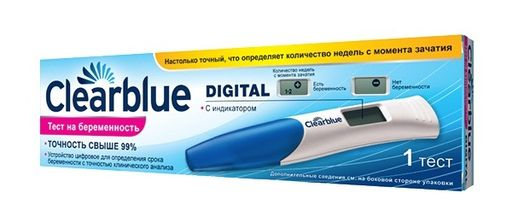 ClearBlue digital Тест на беременность цифровой, с индикатором срока беременности, 1шт.