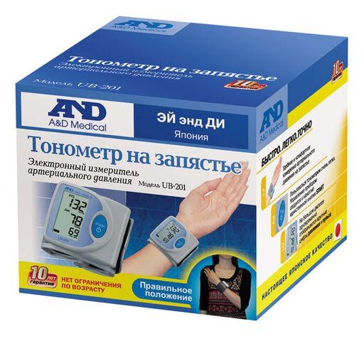 Тонометр автоматический AND UB-201 на запястье, 1шт.