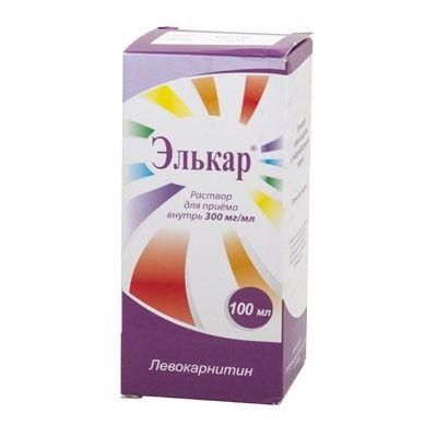 Элькар, 300 мг/мл, раствор для приема внутрь, 100 мл, 1шт.