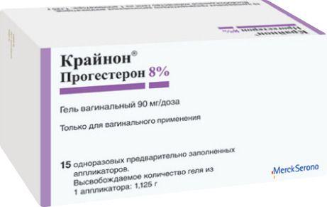 Крайнон, 90 мг/доза, гель вагинальный, 1.125 г, 15шт.