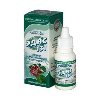 Эдас-131 Ринитол, капли назальные гомеопатические, 15 мл, 1шт.