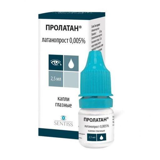 Пролатан, 0.005%, капли глазные, 2.5 мл, 1шт.