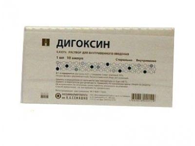 Дигоксин, 0.25 мг/мл, раствор для внутривенного введения, 1 мл, 10шт.