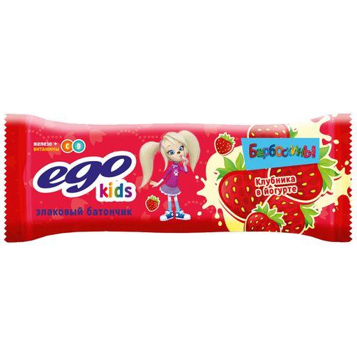 EGO Kids Батончик мюсли с клубникой в йогурте, 25 г, 1шт.