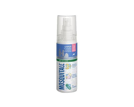 Mosquitall Нежная защита для детей спрей, раствор инсектицидный, на кожу, 100 мл, 1шт.