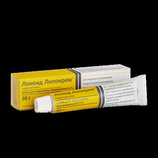 Локоид Липокрем, 0.1%, крем для наружного применения, 30 г, 1шт.