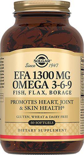 Solgar Комплекс жирных кислот 1300 мг омега 3-6-9, 1300 мг, капсулы, 60шт.
