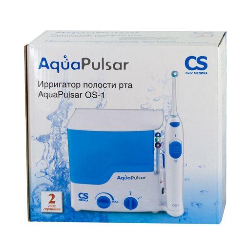 AquaPulsar Ирригатор для полости рта CS Medica OS-1, 2 режима работы, 4 насадки, 500 мл, 1шт.