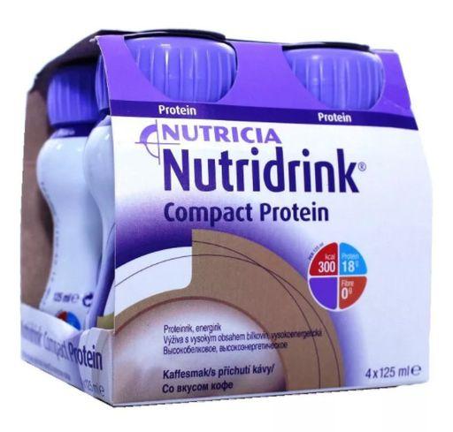 Nutridrink compact protein, жидкость для приема внутрь, со вкусом кофе, 125 мл, 4шт.
