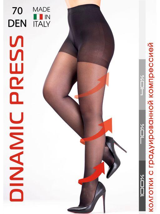 Dinamic Press 70 Колготки профилактические, р. 4, 13-15 mm Hg, 70 DEN (черные), 1шт.